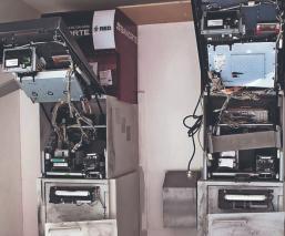 Ladrones destartalan cajero automático pero no logran  sacarle dinero, en Cuernavaca