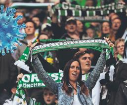 Tribunas llenas de aficionados de cartón animarán a futbolistas, en la Bundesliga
