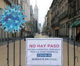 Por emergencia sanitaria del Covid-19, clausuran calles del Centro Histórico de la CDMX