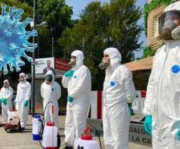 Sanitizan la avenida Masaryk en Polanco, para mitigar la propagación del Covid-19