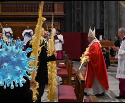 El Papa Francisco celebra misa de Domingo de Ramos sin audiencia, por coronavirus