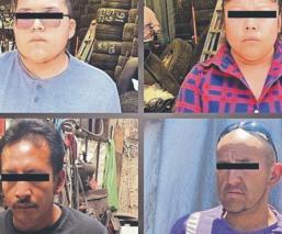 Desarticulan banda de narcos que estaban dentro de una vivienda, en Jilotepec