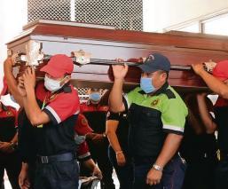 Dicen 'hasta pronto' a bombero que murió en brutal accidente, en Morelos