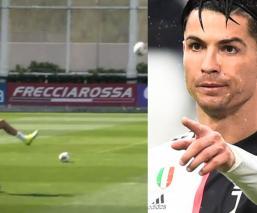 La espectacular canasta que Cristiano Ronaldo anotó con el pie