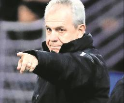 Aguirre durante un partido de La Liga
