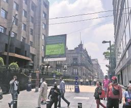 """Así luce el Centro Histórico de la Ciudad de México, con la """"nueva normalidad"""""""