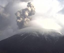 CENAPRED enciende Alerta Amarilla Fase 2 por las 274 exhalaciones del volcán Popocatépetl