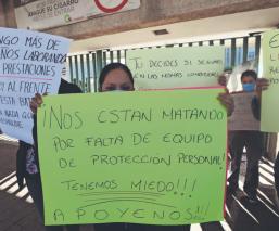 'Nos están dando mascarillas chinas': Médicos denuncian falta de insumos, en el Edomex