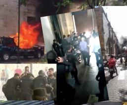 Protestan por muerte de Giovanni López en Jalisco; violencia fuera de control en videos