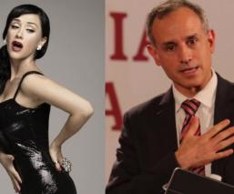 Susana Zabaleta manda seductor mensaje con beso incluído a Hugo López-Gatell
