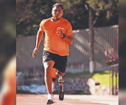 Atleta pierde la pierna tras recibir un balazo y ahora sueña con ir a Tokio