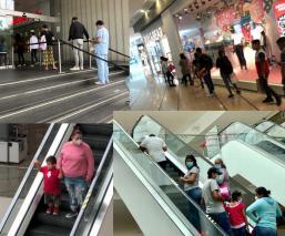 Primer día de reapertura de centros comerciales estuvo complicado para todos, en CDMX