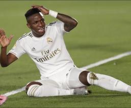 Vinicius Jr durante un partido del Real Madrid