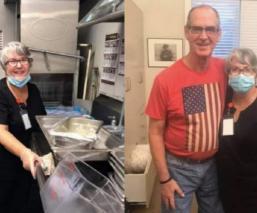 Mujer aceptó empleo de lavaplatos en un asilo para ver a su esposo con Alzheimer