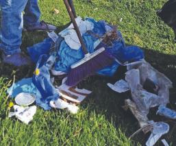 Mexiquenses dejan jeringas, guantes y otros desperdicios quirúrgicos en plena calle