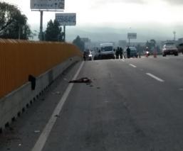 Queda despedazado a lo largo de 20 metros tras ser atropellado en la México - Puebla