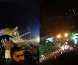 Avión se parte en dos al aterrizar en India, reportan muertos y heridos de gravedad