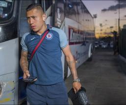 Domínguez previo a un partido del Cruz Azul