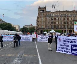 "Cooperativistas se manifiestan en apoyo a ""Billy"" Álvarez"