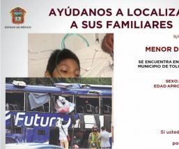 Buscan a familiares de niño herido en la brutal volcadura de camión en la México-Toluca