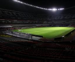 La cancha del estadio Azteca, lista para el regreso del futbol
