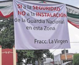 Vecinos de tres residenciales en el Edomex se oponen a la instalación de la base de la GN