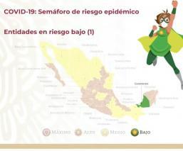 Campeche, el primer estado de México en semáforo epidemiológico verde por el Covid