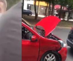 Federico Viñas sufre percance en su vehículo al salir de Coapa