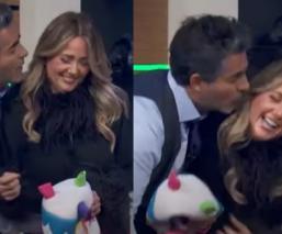 Raúl Araiza intenta besar a Andrea Legarreta en vivo, en pleno programa 'Hoy'