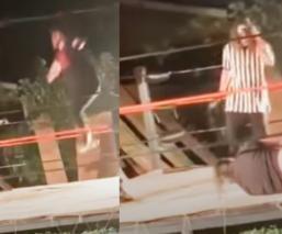 Luchador sufre espeluznante fractura de ambas piernas y todo quedó en video