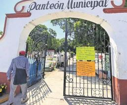 Por Covid-19, municipios de Morelos prohíben entrada a panteones en Día de Muertos