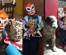 Santi busca ganar concurso de Calaveritas de Chilacayote con personaje de la lucha libre