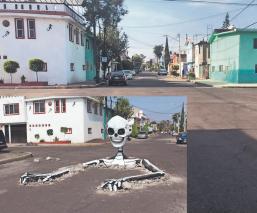 Tláhuac se queda sin sus calaveras monumentales para evitar contagios de Covid-19
