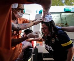 Caos en el funeral de Diego Armando Maradona en Argentina