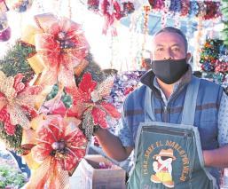 Comerciantes del Bazar Navideño en Edomex esperan que pandemia no mate el espíritu