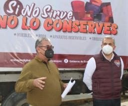 Autoridades en Ecatepec inician programa de recolección a domicilio de triques y chácharas
