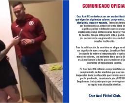 Cruz Azul se manifestó en torno al video del 'Cabecita' Rodríguez en el que aparece en una fiesta