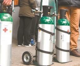 Muere hombre tras explotarle tanque de oxígeno en la cara en Edomex, lo quería reciclar