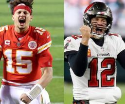 Patrick Mahomes y Tom Brady se volverán a ver las caras, en el Super Bowl LV