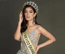 Critican en redes a Miss Grand México por posar en bikini frente a una estatua de Buda