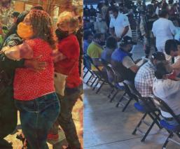 Abuelitos de CDMX van a vacunarse tranquilos, mientras en Ecatepec sufren desmanes
