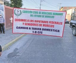 Ejidatarios protestan por altas tarifas de electricidad en Cuautla, Morelos