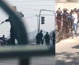 Limpiaparabrisas y franeleros se enfrentan contra policías y desatan balacera en Tecámac