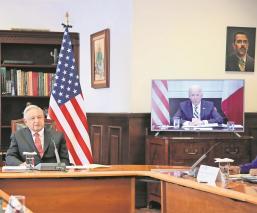 En primera reunión virtual, Joe Biden comparte a AMLO su devoción por la Virgen de Guadalupe