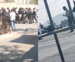 Videos de la balacera entre franeleros y policías que desató el pánico en Tecámac, Edomex