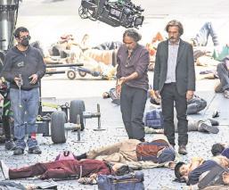 Rodaje de película de Iñárritu en el Centro de la CDMX causa molestia a transeúntes