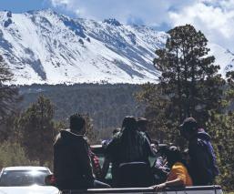 Caída de nieve en el Nevado de Toluca atrae a turistas pero por Covid, no pudieron accesar