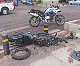 Asaltantes quedan graves tras caer de su moto, en persecución del Edomex a la CDMX