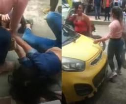 Sexoservidoras colombianas se dan tremendo agarrón de pelos, por ponerse en su esquina