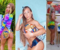 Con fotos temáticas, Miss Bumbum 2021 celebra el Día Internacional del Arte